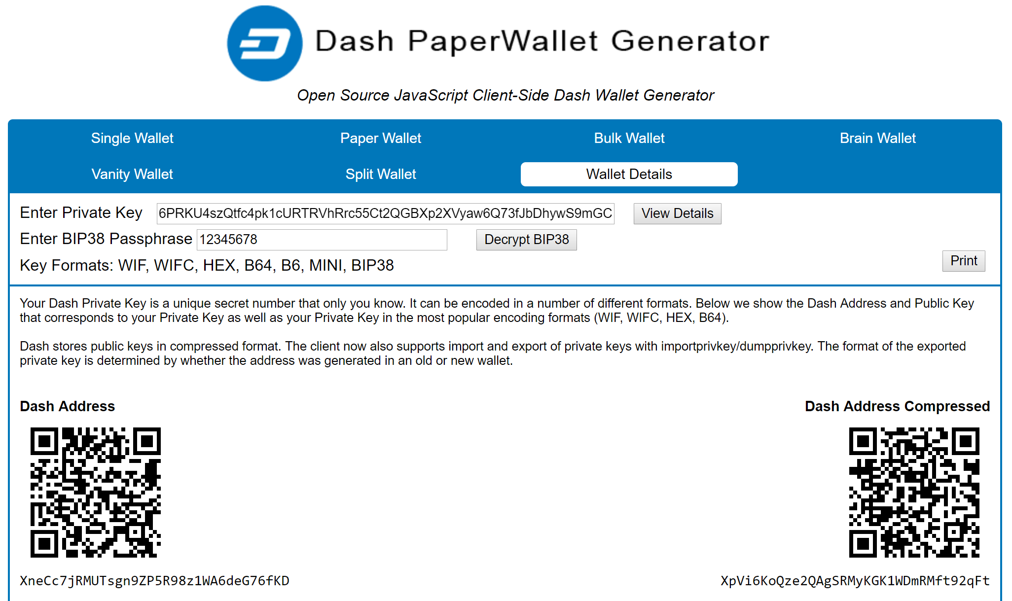 Wallet Recovery — Dash latest documentation